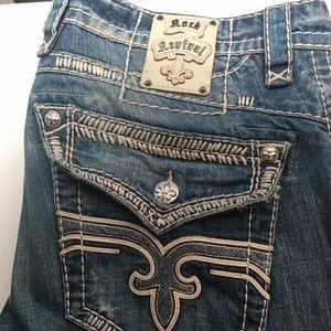Men's rock revival jeans- slim straight